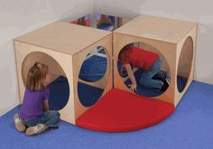 Whitney Bros Corner Play Area - make not buy Kids Play Area, Kids Room, Room Ideias, Indoor Play Equipment, Preschool Playground, Indoor Play Areas, Indoor Playhouse, Childrens Rugs, Play Gym