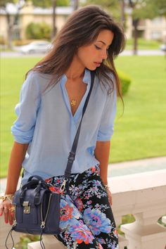 Periwinkle isn't my favorite color, but I love the concept of the outfit :)