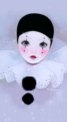 Modern Clown :: Pierrot Illustration