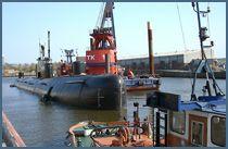 U-434 am St. Pauli Fischmarkt