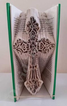Create your own piece of stunning Book Art with this Star of David Combi Cut and Fold Book Folding Pattern. Visit Today !!