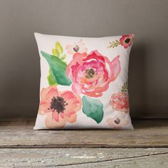 This beautiful and elegant light pastel Floral Dreams throw pillow will make any space in your home look amazing. This is the perfect accessory for any couch, l