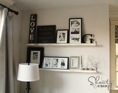 tutorial: $15 picture ledges using plans from Ana White  {Shanty 2 Chic}