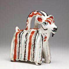 Guido Gambone; Glazed Ceramic Goat, 1950s.
