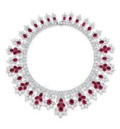 An important ruby and diamond necklace, by Harry Winston. Estimate: $1.000.000 - $1.500.000