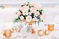 Hochzeit in Gold und Rosa