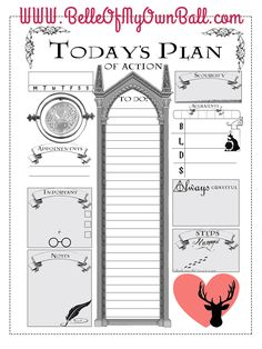 Belle Of My Own Ball: Happy Planner Freebie - Harry Potter Daily Insert (diy harry potter lamp) Planner Pages, Life Planner, Printable Planner, Happy Planner, Planner Stickers, Planner Inserts, Free Printable, Harry Potter Planner, Harry Potter Printables