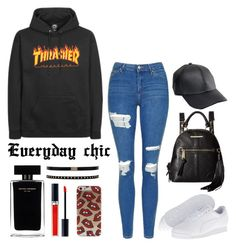 """"""" Just a cool everyday look...."""" by phsyco-cutie ❤ liked on Polyvore featuring ASOS, Steve Madden, Topshop, Puma, Narciso Rodriguez and Christian Dior"""