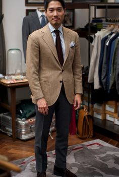Put This On • Second Time a Brown Whether worn casually with...
