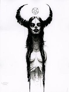 Gothic Drawings, Dark Art Drawings, Art Drawings Sketches, Arte Horror, Horror Art, Arte Punk, Dark Art Tattoo, Creepy Tattoos, Dark Art Illustrations