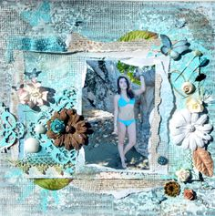 INKIDO May challenge The beach is my happy place Scrapbooking Layouts, Scrapbook Paper, My Happy Place, Beach Trip, Challenges, Paper Crafts, Artist, Artwork, Projects