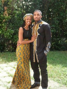 Gold and black Ankara his and hers