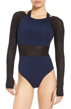 0b739463bf399 IVY PARK Linear Mesh Double Layer Bodysuit.  ivypark  cloth