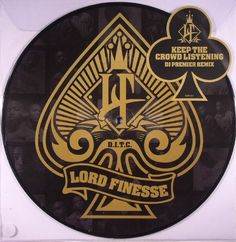 The artwork for the vinyl release of: Lord Finesse - Keep The Crowd Listening (Slice Of Spice) #music HipHop