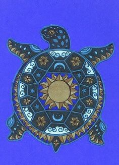 The Native American people called the turtle, earth. By Lightworker Metaphysics Sea Turtle Art, Turtle Love, Purple Turtle, Native Art, Native American Indians, Arte Tribal, American Tattoos, Medicine Wheel, Indigenous Art