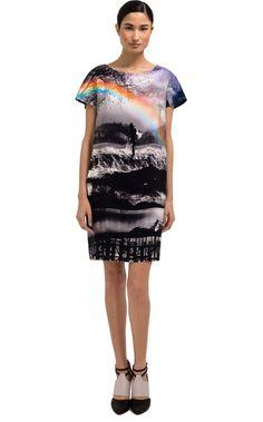 Mary Katrantzou Wisherman Short Sleeve Shift Dress in Black (wisherman) - Lyst