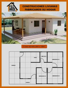 2 Bedroom House Plans, My House Plans, Modern House Plans, Small House Plans, House Floor Plans, Village House Design, Bungalow House Design, Village Houses, Small House Design