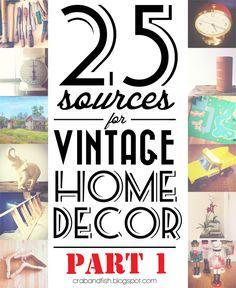 crab+fish: 25 sources for vintage home decor, part one.