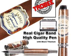 Executive gift for the smoker. Cigar pen made with a by TrobeePens, $159.99