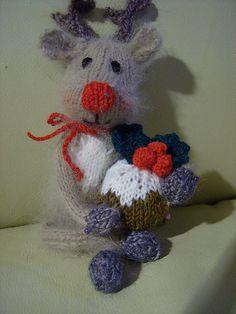 Little Christmas Reindeer 'Rudolfino' ~ Free Knitting Pattern ~ (Download)