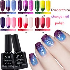 MDSKL Gel Nail Polish Chameleon Temperature Change Color Gel Lacquer Long-lasting UV Gel Nail Temperature Changing Color 10ML  Price: 0.99 USD