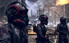 Descargar fondos de pantalla Star Wars Battlefront II, 2017, cyborgs, nuevo juego de shooter de Star Wars 2017, cartel