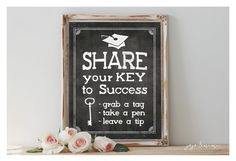 Instant 'Share your Key to Success' Printable by JoJoMiMi on Etsy