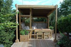 Alle som bygger med tre i uterommet kan søke og vinne kr Gazebo, Barn, Outdoor Structures, Home, Ideas, Terrace, Kiosk, Ad Home, Homes