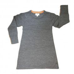 Knitted dress, 100% merino wool, dark grey, BOCK Copenhagen