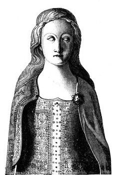 ANNE OF BOHEMIA (b.1366-d.1394).(First) QUEEN CONSORT OF RICHARD II from 20th January, 1382 until her death on 7th June, 1394. HOUSE OF PLANTAGENET.  PICTURE: A rendering of Anne of Bohemia's tomb effigy, part of her joint tomb with Richard II at Westminster Abbey.