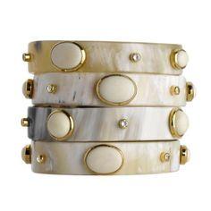 ADORNED HORN BANGLE #Jewelry #Bracelet