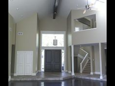 Entry-way/foyer - love the flooring materials and transition.