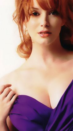 Christina Hendricks: God bless this woman with me....How can you even make purple look good....?