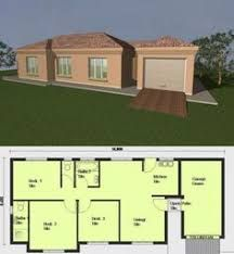 Image result for single storey flat roof house plans in south africa