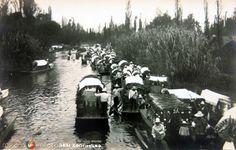 Fotos de Ciudad de México, Distrito Federal, México: CANALES DE XOCHIMILCO Por HUGO BREHME circa 1920-1940