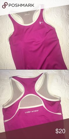 FREE WITH PURCHASE Under armor racerback tank top Fits tight, size small. Super comfy. Built in bra. Like new. This item is free with a purchase of another item! :-) Tops Tank Tops