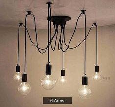 Industrial Spider Chandelier Pendant Light