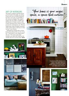 Australian Women's Weekly takes you inside Chrissie Jeffery's Sydney Apartment and talks all things colour, art and design.