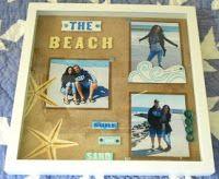 Framed Beach & Coastal Designed Scrapbook Layout