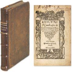 Ascuns Novell Cases de les Ans et Temps le Roy, H 8 Ed 6 and la.. | Sir Robert Brooke