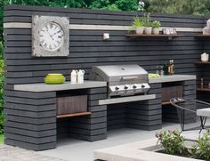 meridian 4 built in gas bbq the barbecue store spain - built in bbq cost built in bbq cost, meridian in gas bbq Modern Outdoor Kitchen, Outdoor Kitchen Bars, Outdoor Living, Outdoor Kitchen Countertops, Covered Outdoor Kitchens, Outdoor Bars, Modern Patio, Concrete Countertops, Open Kitchen