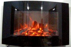 26 best black glass wall mounted electric fires with logs 88cm wide rh pinterest com