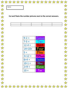 cut and paste with numbers example