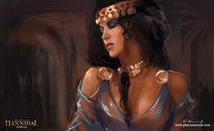 The beautiful Sophonisba seduces a Numidian king, Pawel Kaczmarczyk on ArtStation at https://www.artstation.com/artwork/62GvW