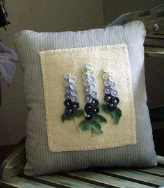 cuscino con delphinium