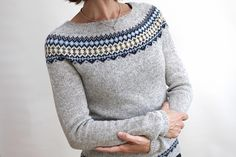Ravelry: Project Gallery for Ingrid Pullover pattern by Isabell Kraemer Diy Knitting Kit, Fair Isle Knitting Patterns, Knitting Designs, Knit Patterns, Simple Outfits For School, School Outfits, Cable Knit Blankets, Icelandic Sweaters, Sweater Design
