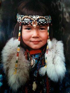 **Native smille from a Sakha girl, Sakha (Yakutia) Republic, Northeast Siberia