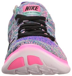a72eebf6f94 Nike Womens Free Running Motion Flyknit Shoes Pink Blast Black Racer  Blue Clear Jade 7 BM US     For more information