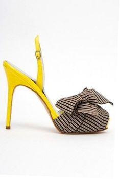 efa1daac5d Ladies Shoes Office Yellow Sandals, Yellow Shoes, Ribbon Shoes, Beautiful  Heels, Custom