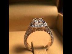 1.50 carat cushion cut vintage engagement ring. #diamond #diamonds #wedding #weddings #engagementring #ring #rings #bride #brides #jewellery #jewelry #vintage #halo #thediamondstudio